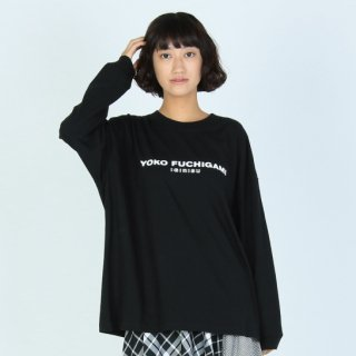 YOKO FUCHIGAMI 公式ビッグシルエット L/S TEE【BLACK】<img class='new_mark_img2' src='https://img.shop-pro.jp/img/new/icons13.gif' style='border:none;display:inline;margin:0px;padding:0px;width:auto;' />