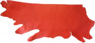 本ヌメ革 赤 半裁サイズ
