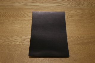 本ヌメ革 黒 A4サイズ
