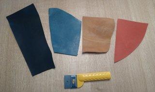 本ヌメ革&オイルレザー 10色 お試し切れ端セット