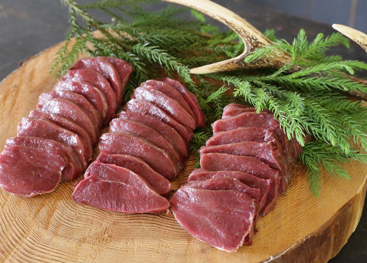 森のジビエ 鹿肉 モモスライス BBQ用 600g