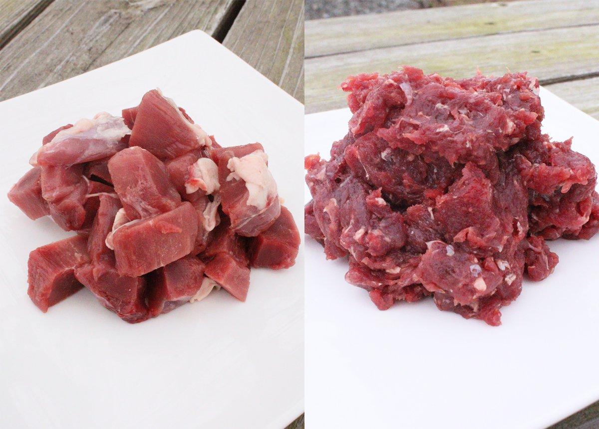 森のジビエ 鹿肉 ペット用 カット&ミンチ 2kg