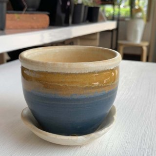 植木鉢受け皿セット 藍色