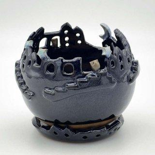 フクロウの棲む街 瑠璃 ( Mサイズ ) 1106