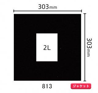 ジャケットサイズ中枠 2L(角/中央)813