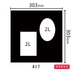 ジャケットサイズ中枠 2L×2(角/左下・楕円/右上)417