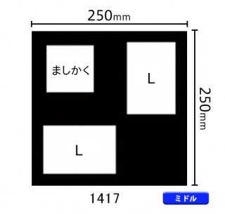 ミドルサイズ中枠 RS×1、L×2(角/RS左上・L立・L横)1417