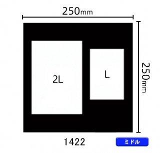 ミドルサイズ中枠 2L×1、L×1(角/2L左・L右)1422
