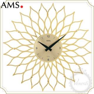 AMSアイアン風フラワー掛け時計ゴールド