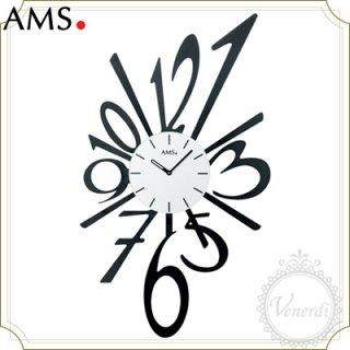 【予約販売中】AMSアイアンプレート数字デザイン掛け時計