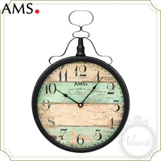 【予約販売中】AMSレトロな懐中時計風 掛け時計