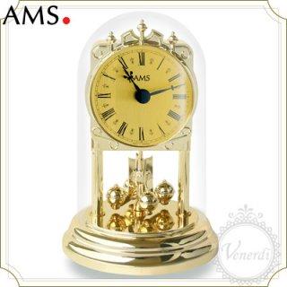 AMSガラスドーム置き時計/ローマ数字ゴールド