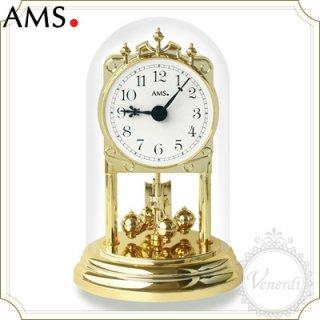 【予約販売中】AMSガラスドーム置き時計/アラビア数字ホワイト