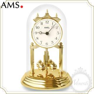 【予約販売中】AMSガラスドーム置き時計(大)/アラビア数字ホワイト