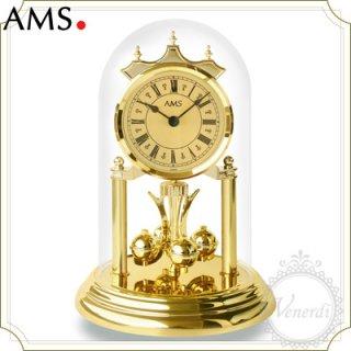 【予約販売中】AMSガラスドーム置き時計(大)/ローマ数字ゴールド