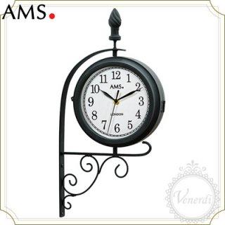 【予約販売中】AMSカフェ風モダンアイアン壁時計 回転時計