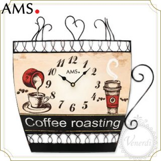 【予約販売中】AMSコーヒーカップデザイン アイアン掛け時計