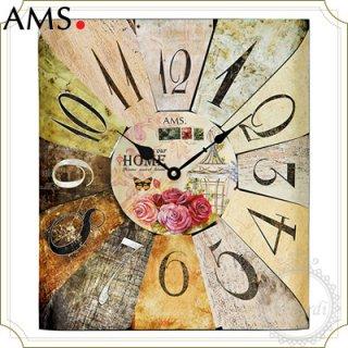 【予約販売中】AMSレトロデザイン掛け時計スクエア
