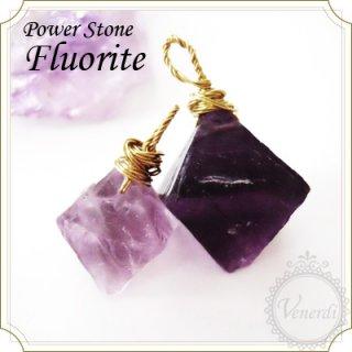 フローライト天然石ペンダントトップ(紫蛍石)