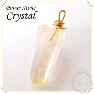 天然石水晶ペンダントトップ(クリスタルクォーツ)