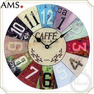 【予約販売中】AMSカフェレトロ掛け時計