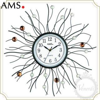AMSパール&ストーン付きアイアン掛け時計