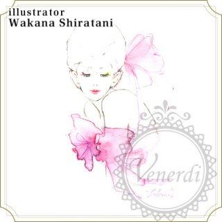 """アートポストカード""""ribon""""Pink"""