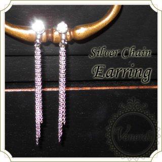 チェーンイヤリング Silver/タッセル