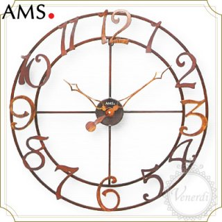 【予約販売中】AMSアイアン装飾デザイン掛け時計