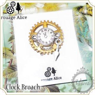 時計のブローチ