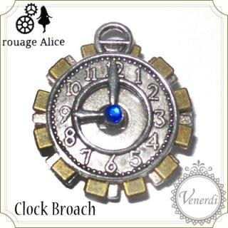 懐中時計のブローチ