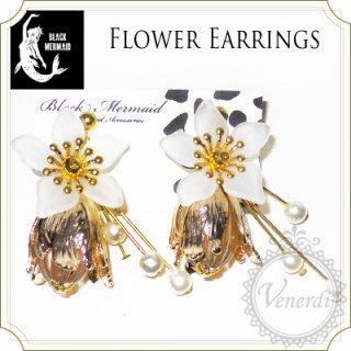 花と実のパールシャワーイヤリング