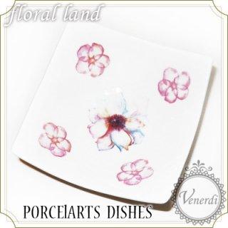ポーセラーツ 小皿 / 桜