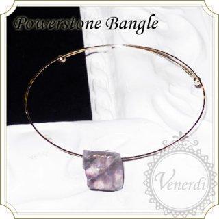フローライトバンクル 天然石/紫蛍石