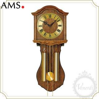 【予約販売中】AMSアンティーク調チェーンドライブ振り子時計