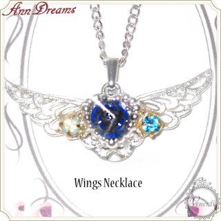 Rose Wingsネックレス ブルー