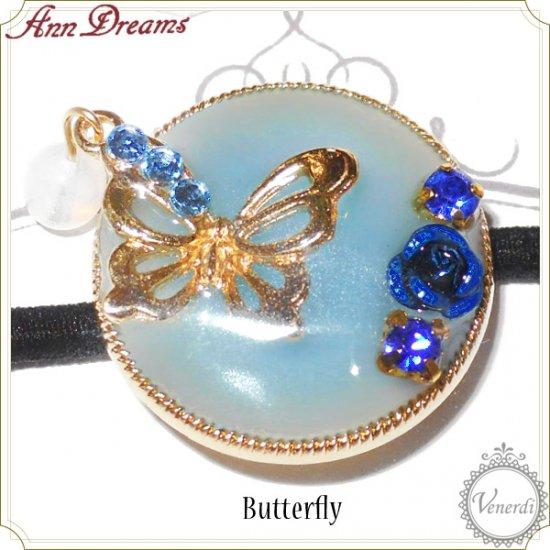 色が変わるキラキラ蝶のヘアゴム
