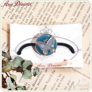 色が変わる蝶のヘアゴム 白⇔青紫