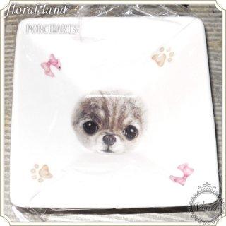 ポーセラーツ小皿 猫顔