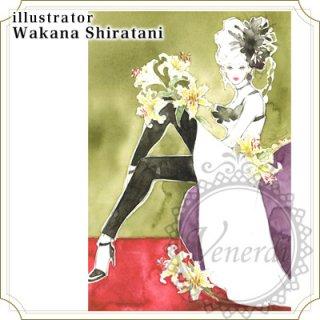 """アートポストカード""""Colors""""ユリの花"""