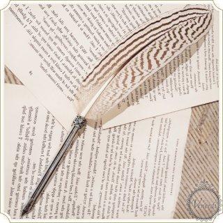 イタリア製 羽根ペン インクセット