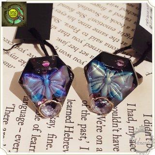 ガラスの棺の指輪(虹の蝶)
