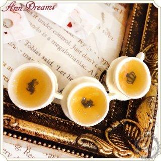 紅茶リング(チェシャ猫/白うさぎ/女王クラウン)