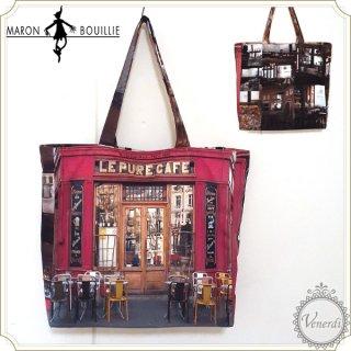 パリ・レトロショッピングバッグ ピュアカフェ(レッド/L)