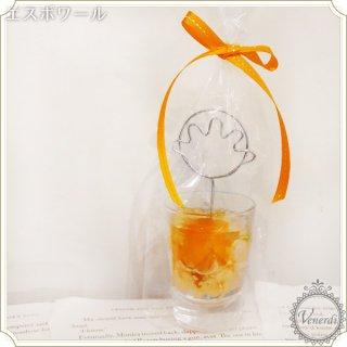薔薇のメモクリップ オレンジ/ハンド