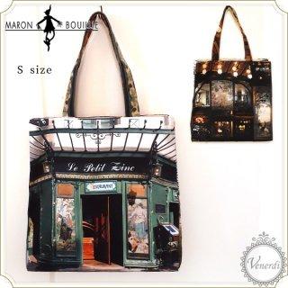 パリ・レトロショッピングバッグ レストラン(グリーン/S)