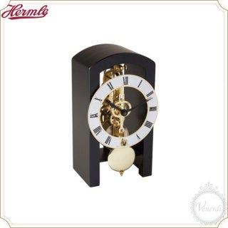 【予約販売中】Hermle木製機械式スケルトン置き時計