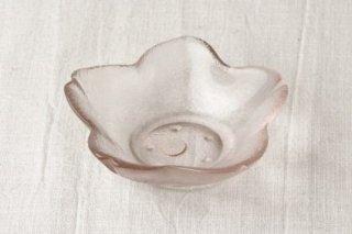 WP03 小皿・小鉢/ガラス/花・桜(ピンク)