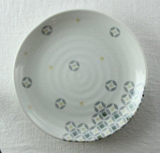 WP838 和皿/丸(白)・花柄