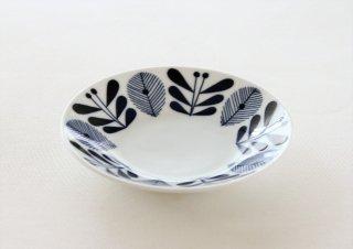 WP147 プレート皿/丸(白×青)・北欧